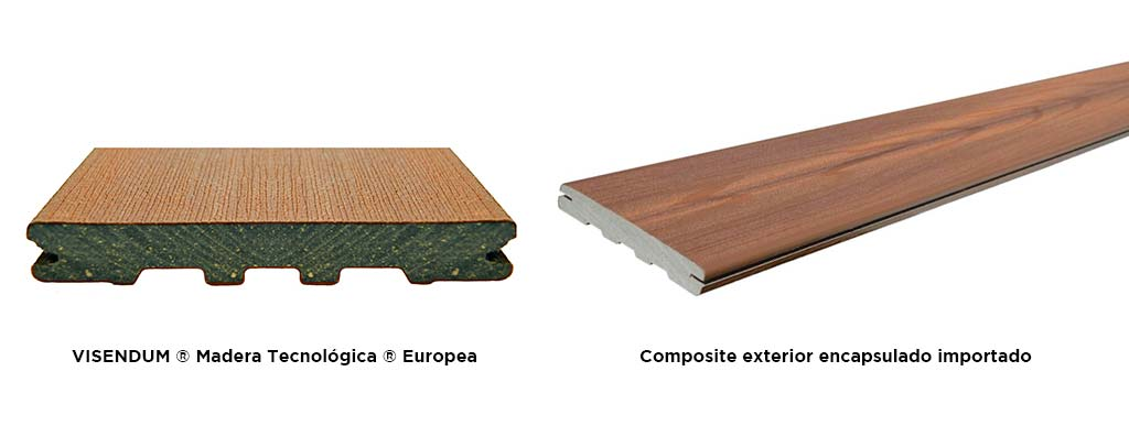 VISENDUM ® Madera Tecnológica ® Europea Composite exterior encapsulado importado