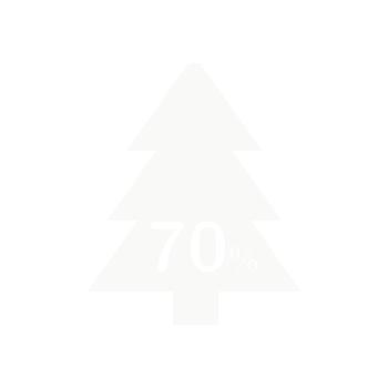 70% madera de pino reciclada